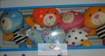 Babymix zenélő körforgó kiságyra - Színes mackók