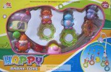 Happy Babay Toys Zenélő körforgó kiságyra, bocis