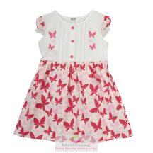 Lepke mintás pink nyári ruha
