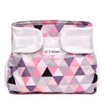 Ortopédiai abdukciós pelenka, terpeszpelenka - Rózsaszín háromszögek 3-6 kg