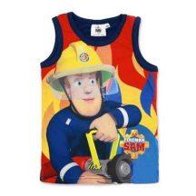 Fireman Sam, Tűzoltó Sam mintás fiú ujjatlan trikó, sötétkék