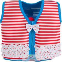 KONFIDENCE gyermek úszómellény - MARTHA'S RED STRIPE AND FRILLS 4-5 éves korig