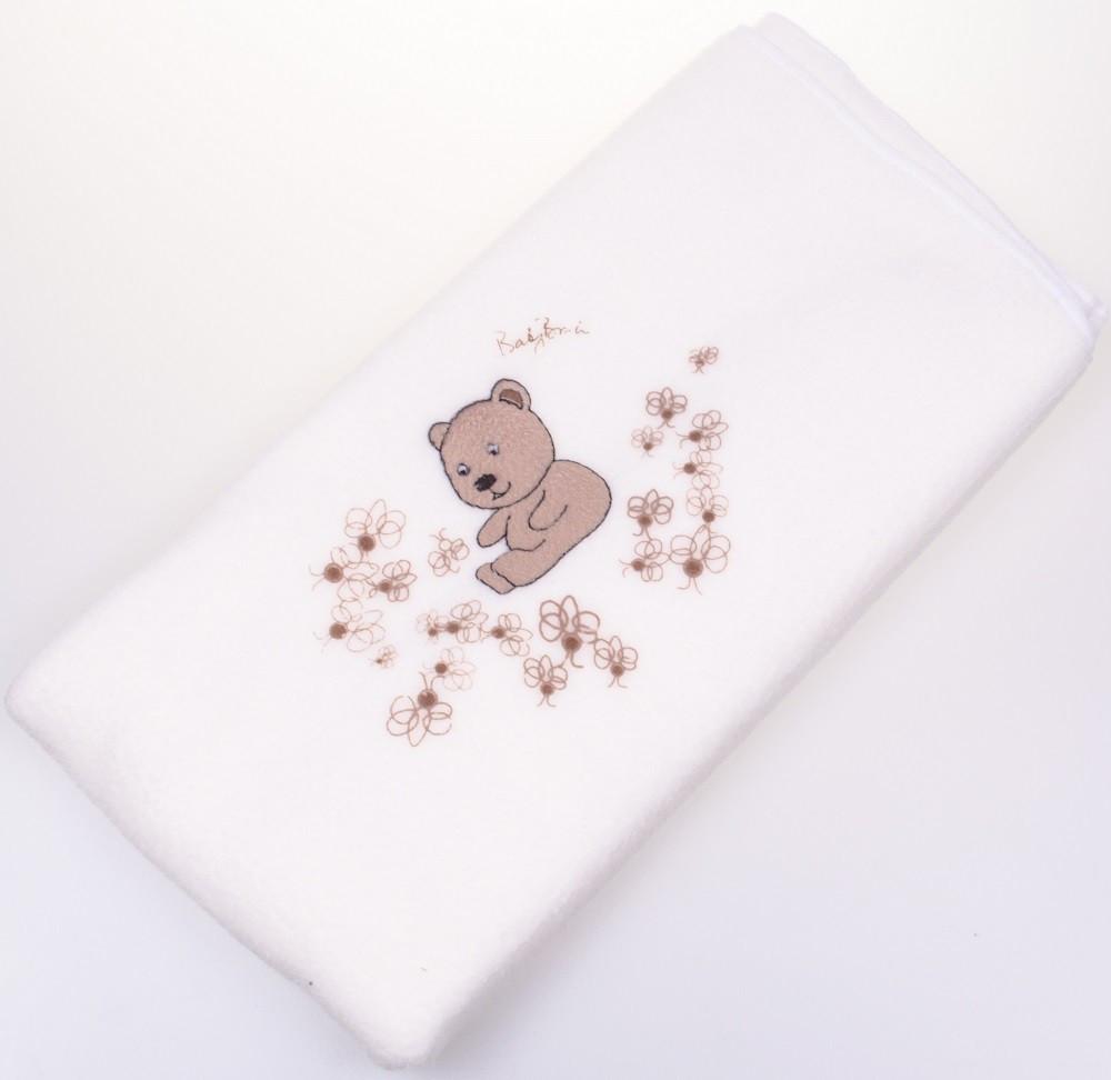 Kék Polár takaró nyomott maci mintával 90×70 cm - MiniOrszág Baba ... 30a2ba30e3