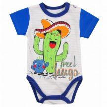 Baba nyári rövid ujjú body Koala Cactus Summer kék