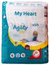 My Heart nadrágpelenka, 2 Mini 3-6 kg, 50 db