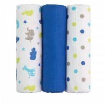Tetra pelenka, csúcsminőség, 3 db/csomag, 70x70 cm - Kék zsiráfok