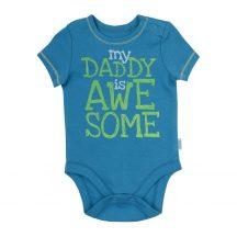 My Daddy is Awesome, feliratos rövid ujjú kombidressz kék