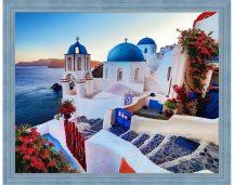 Gyémántfestés szett, Santorini, 50x40cm