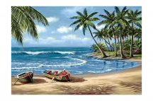 Gyémántfestés szett, trópusi öböl, 70x48cm