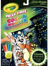 Crayola Color Wonder Maszatmentes fluoreszkáló falikép készlet