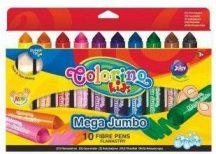 Filctoll készlet 10 db-os, Colorino MEGA JUMBO 3+