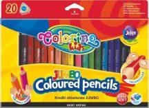 Színes ceruzakészlet 20 db-os, 8.9 cm Colorino MINI JUMBO trio, háromszög test