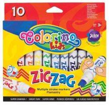 Filctoll készlet 10 db-os, vágott hegyű, Colorino ZIG-ZAG 3+