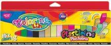 Színes gyurmakészlet, 18 db-os, MIX (4 db glitter, 2 db glow, 4 db neon, 1 db ezüst és 1 db arany), hasáb alakú, Colorino