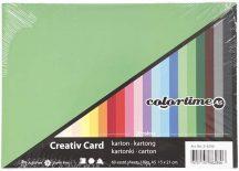 Színes karton, fotókarton, A/5, 180g, 20 szín, 60 lap/cs