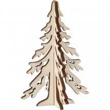 Fa fenyőfa, karácsonyfa, 12,5x8,5cm