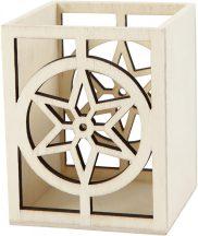 Ceruzatartó, csillagos, dekorálható, 10x8 cm-es