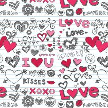 Csomagolópapír, hengeres, 70x100cm, Love, feliratok