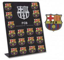 FC Barcelona hűtőmágnes, gumi, 2,5x4cm