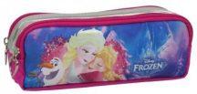 Jégvarázs tolltartó, beledobálós, szögletes, 2 rekesszel, KL17, Elsa, Anna és Olaf