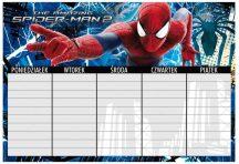 Pókember, Spider-Man órarend, 22x15cm, többféle