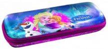 Jégvarázs tolltartó, beledobálós, ovális, KL17, Elsa, Anna és Olaf