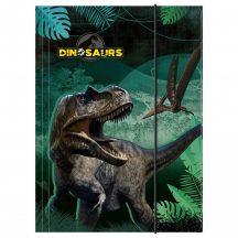 Dinoszaurusz gumis mappa A/4
