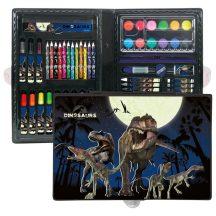 Dinoszaurusz rajzkészlet, 71 db-os, DN13, kék