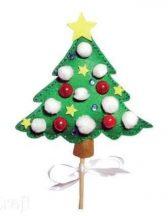 Filc karácsonyfa készítő kreatív szett, 5+
