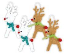 Filc rénszarvas karácsonyfadísz készítő kreatív szett, 4 db-os, 4+