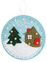 Filc karácsonyfadísz készítő kreatív szett, kör, 5+