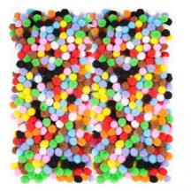 Pom-pom, vegyes színek, 0,7 cm-es, mini, 380 db/csomag
