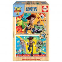 Educa Toy Story 4 fa puzzle, 2x50 darabos