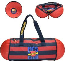 FC Barcelona sporttáska, 58x23x23cm, labda formájúra csukható