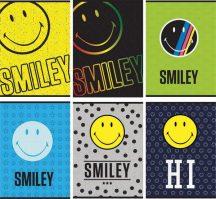 Smiley, emoji füzet A/4, kockás, 54 lap, 80g, többféle minta