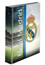 Real Madrid gyűrűskönyv, A/4, 4 gyűrűs, csíkos
