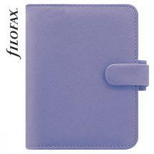 Filofax Saffiano Pocket, 115x150x30mm, 2020-as naptárral és jegyzetlapokkal, égkék