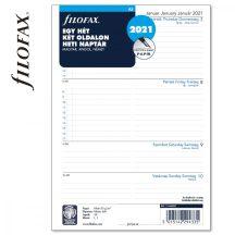 Filofax A/5 naptárbetét, heti tervező, 148x210mm, 68 lapos, fehér, magyar (H-GB-D), 2021