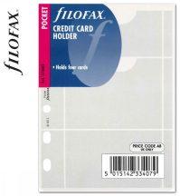 Filofax Pocket kártyatartó, bankkártya tartó, 81x120mm, átlátszó
