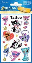 Tetoválás matrica szett, cicák 7,5x12cm