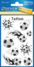 Tetoválás matrica szett, focilabdák 7,5x12cm