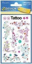 Tetoválás matrica szett, nonfiguratív minták, 7,5x12cm