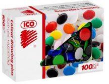 Rajzszög, színes, 100 db/doboz