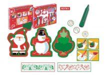Nyomdakészlet, karácsonyi, rolleres