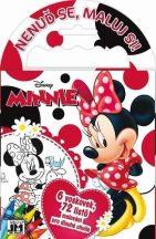 Minnie egér úti színező 72 lappal és 6 zsírkrétával, 12,5x11,5 cm