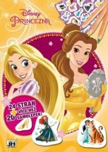 Disney hercegnők színező- és foglalkoztatófüzet, A/4, matricákkal