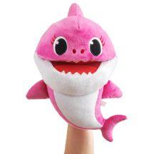 Baby Shark cápa ütemre zenélő plüss, 28x17x16cm, rózsaszín anya cápa