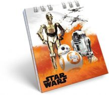 Star Wars notesz spirál kicsi A/7 Robots, BB-8