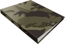 Military gyűrűskönyv A/4, 2 gyűrűs #peace Green