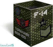 Military asztali ceruzatartó, karton 8x8x10cm, #Peace Pixel